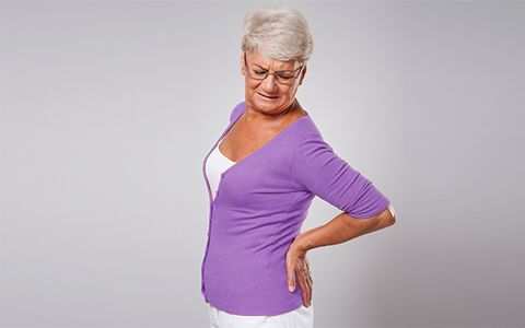 Image of woman with backpain