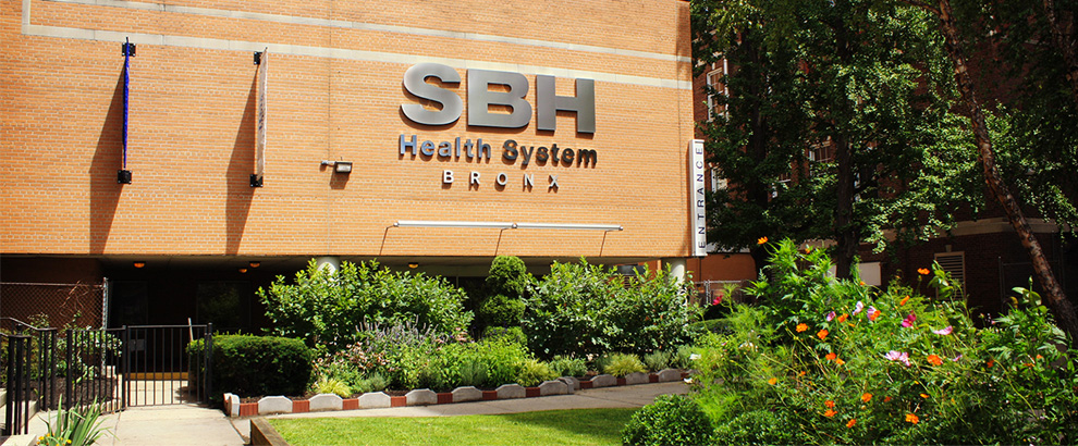 St. Barnabas Hospital entrance at SBH Health System Bronx