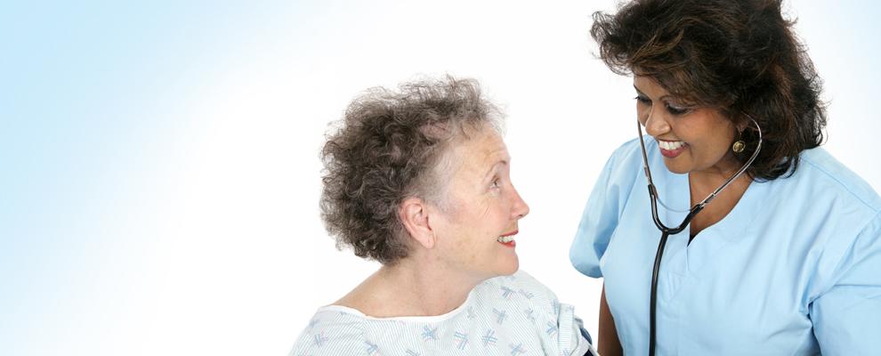 Happy patient and nurse at SBH Hemodialysis Center