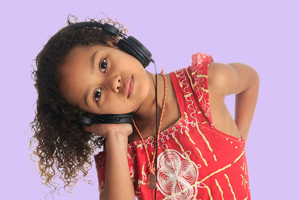 image of kid with headphones