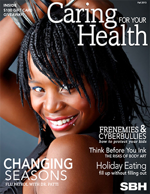 image of woman on CFHY fall cover 2013