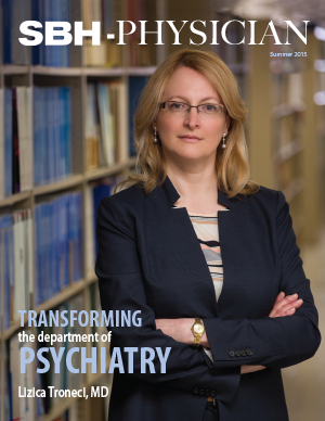 image of woman on physician magazine summer 2015