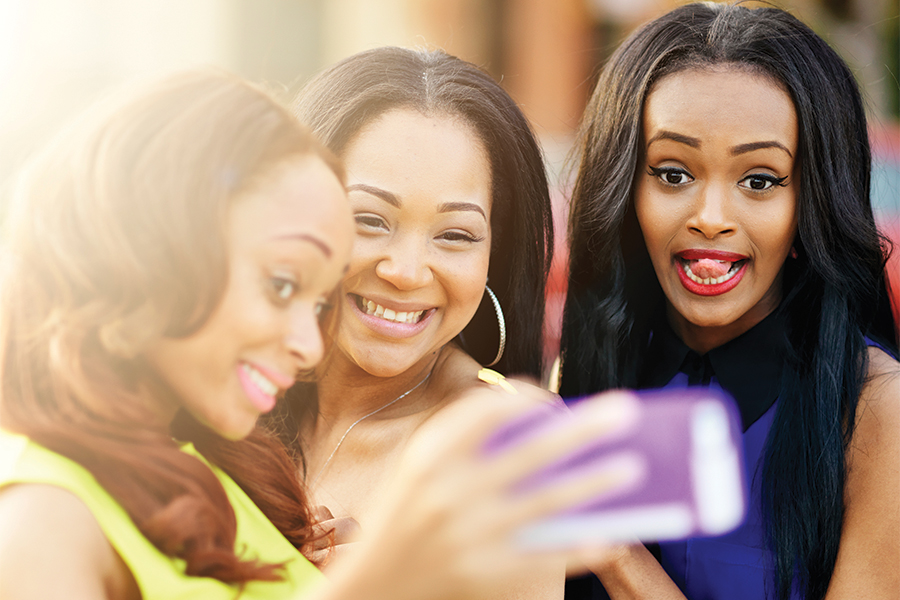 Image of girls taking a selfie