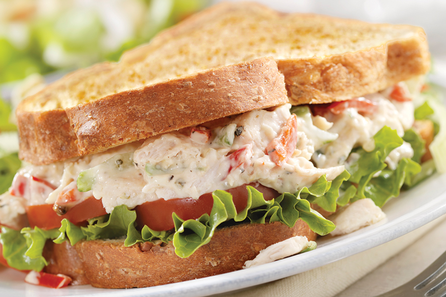 Image of a chicken salad sandwich - yum!