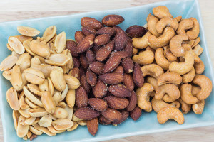 Image of almonds peanuts and cashews