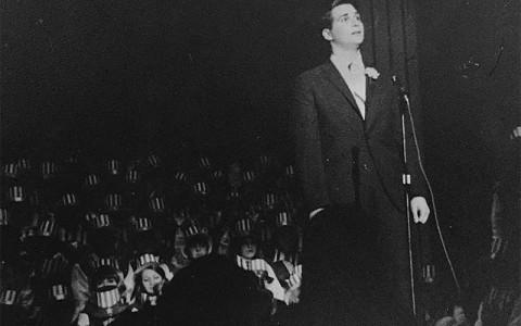 Image of Dr. Joel Sender singing opera