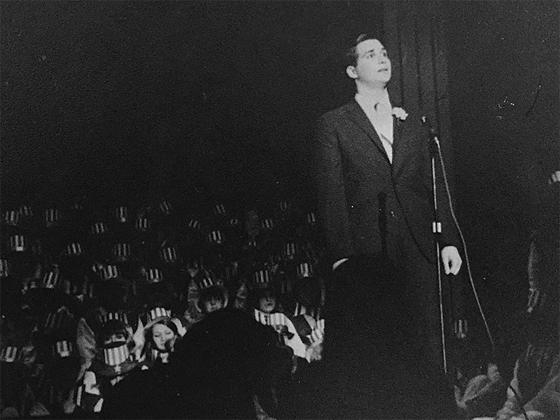 Image of Dr. Joel Sender singing opera