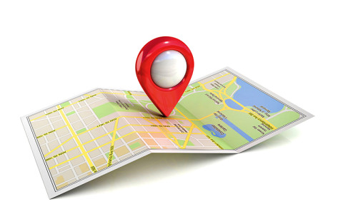 Image of pin on map