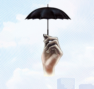Image of hand holding umbrella
