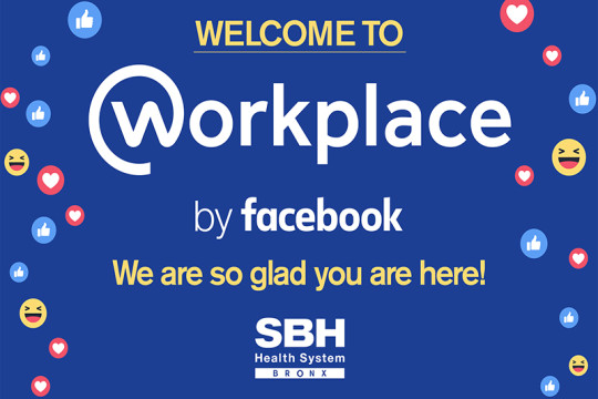 Animated Image of Facebook Workplace Welcome