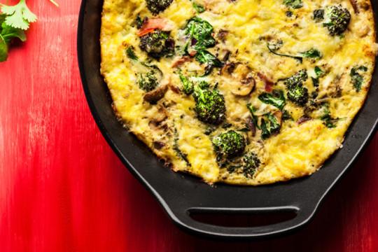 Image of Asparagus, Leek, & Mushroom Frittata