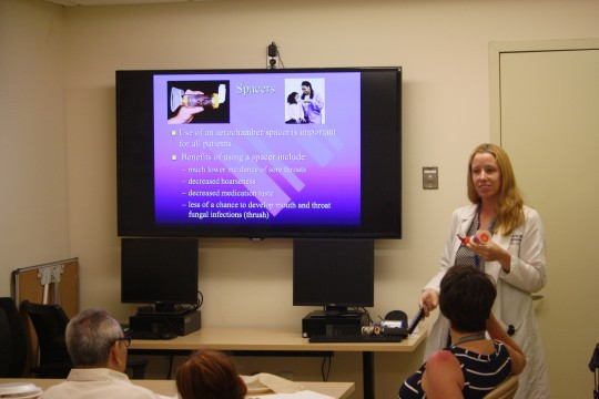 Image of Dr. Alyson Smith, MD presenting During SBH Asthma Lunch Workshop