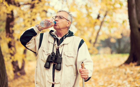 Image of man drinking a healthy beverage