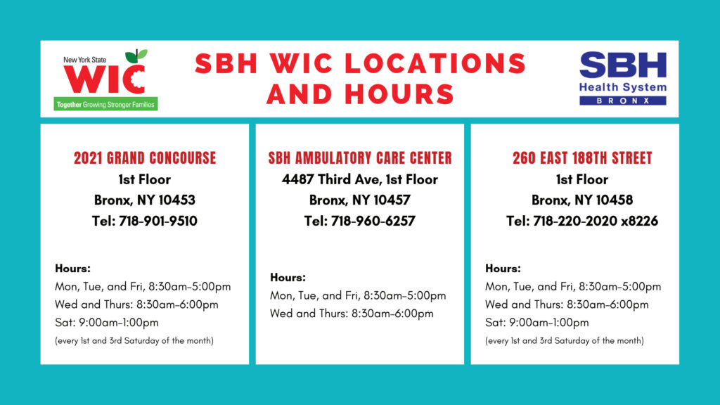 Hours for the Women,Infant and Child Offices