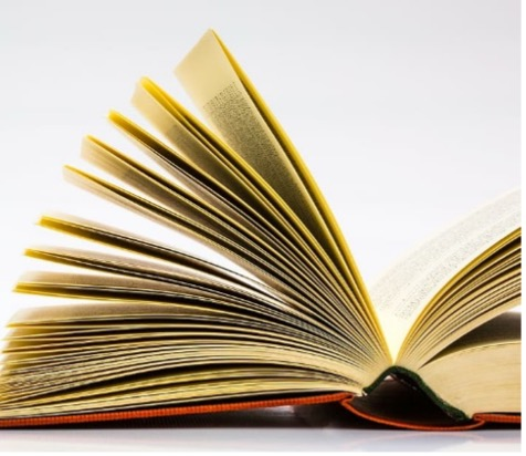 Picture of a opened book