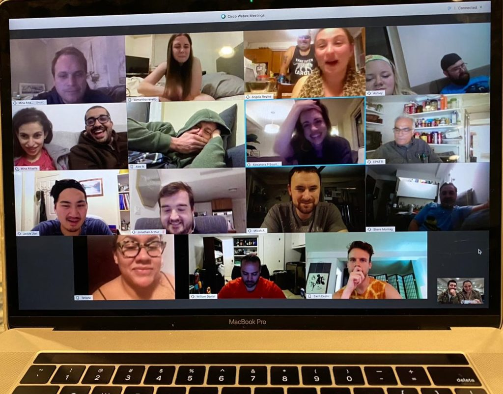 Picture of SBH Staff and Residents in a video conference