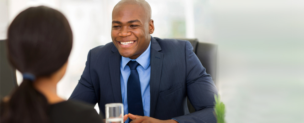 image of Man interviewing for a job