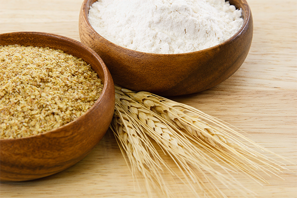 image of wheat and flour