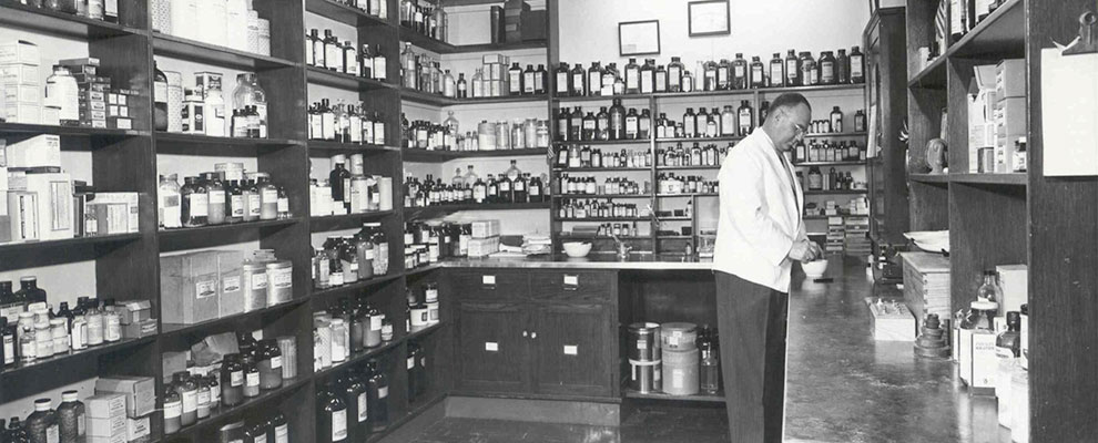 Image of vintage pharmacy