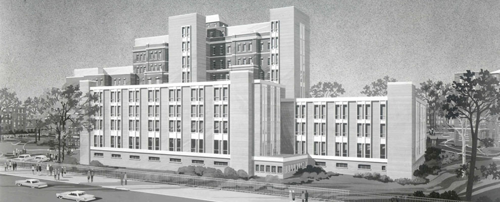 Image of rendering of new hospital