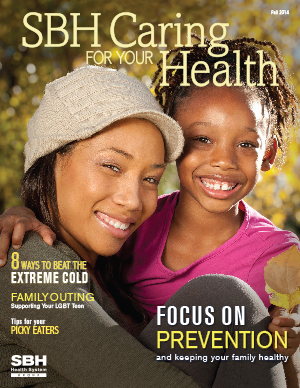 image of mother and daughter on CFYH fall cover 2014
