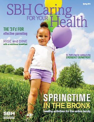 image of girl holding balloons for spring cover of CFYH 2015