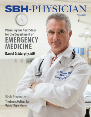 image of doctor on cover of physician magazine winter 2015