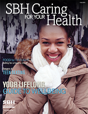 image of front cover of SBH Caring for Your Health fall 2015