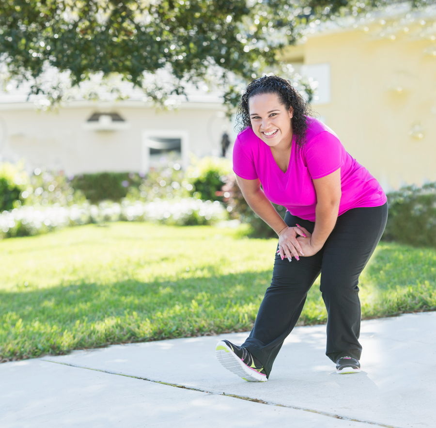 Image of woman stretching – one of Dr. Patti's Spring Health Tips