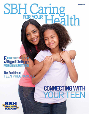 Image of front cover of SBH Caring for Your Health Spring 2016
