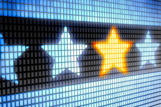 Image of stars on a led screen representing those who have thrived