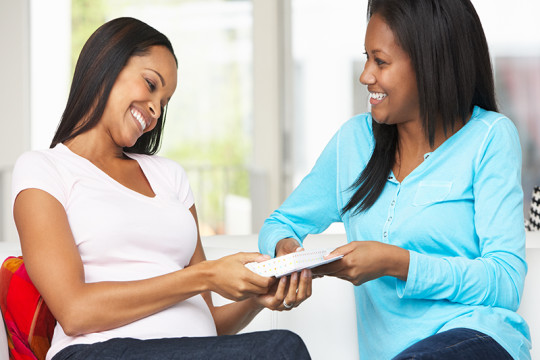 Image of new mothers talking