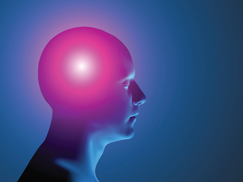 illustration of 3D human with migraine